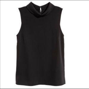 H&M Black size 4 sleeveless blouse